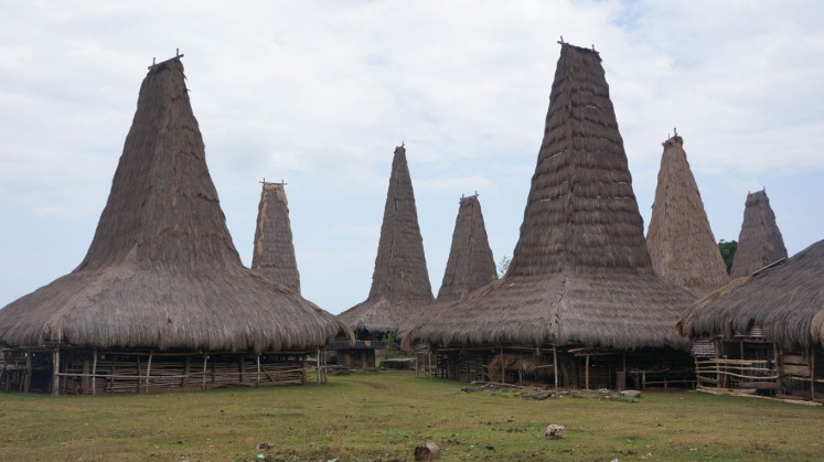 The custom village of Ratenggaro lies in Southwest Sumba.