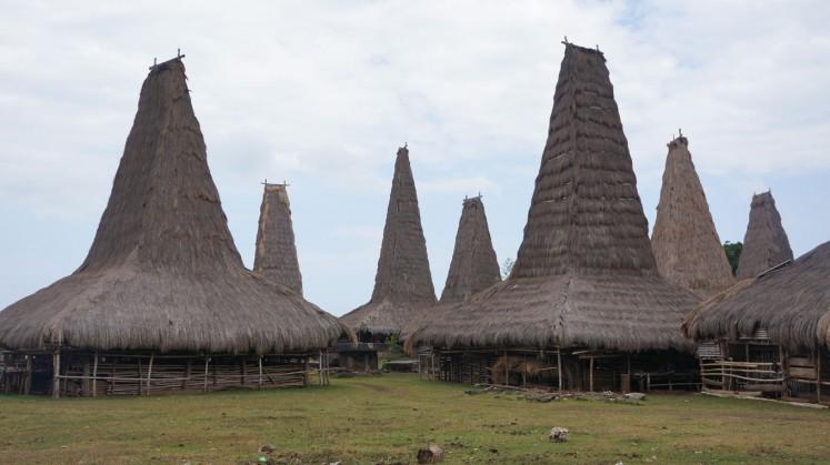 The custom village of Ratenggaro lies in Southwest Sumba.