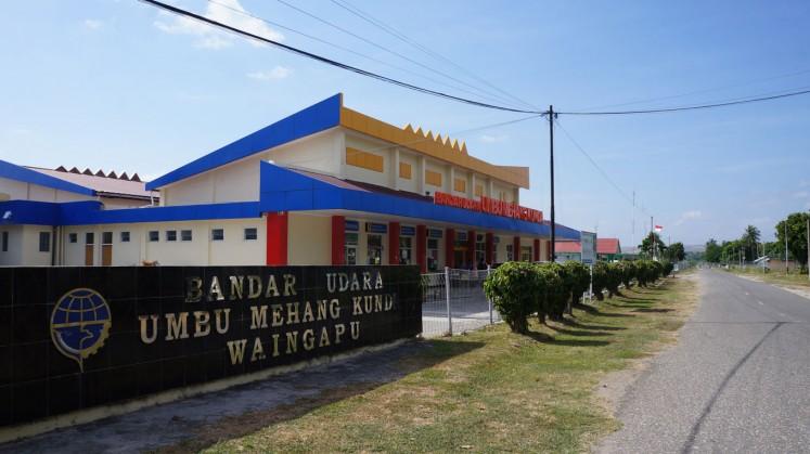 Umbu Mehang Kunda Aiport in Waingapu, East Sumba