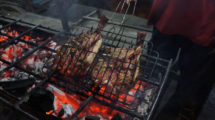 Enjoy Aja's grilled fish