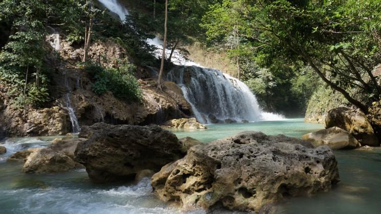 Lapopu Waterfall in Central Sumba.