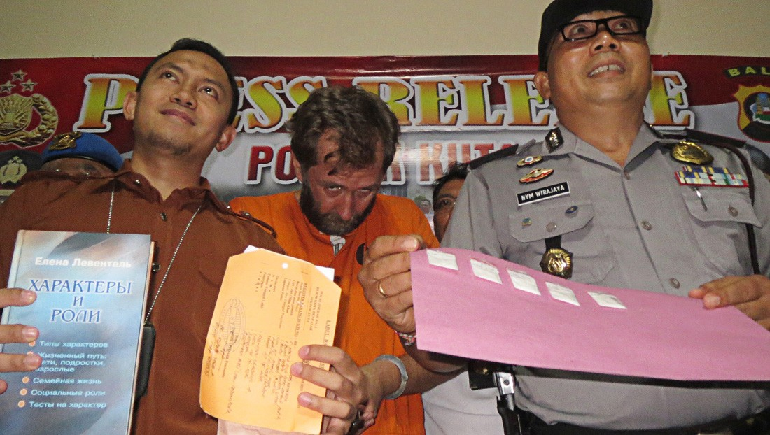 Russian arrested for selling cocaine in Seminyak