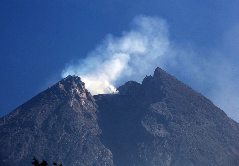Mount Merapi is seen from Balerante village in Klaten regency, Central Java on June 3, 2018. JP/Boy T. Harjanto
