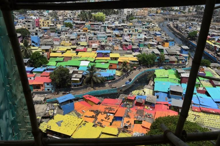 'It looks like new:' Mumbai slums get colorful makeover
