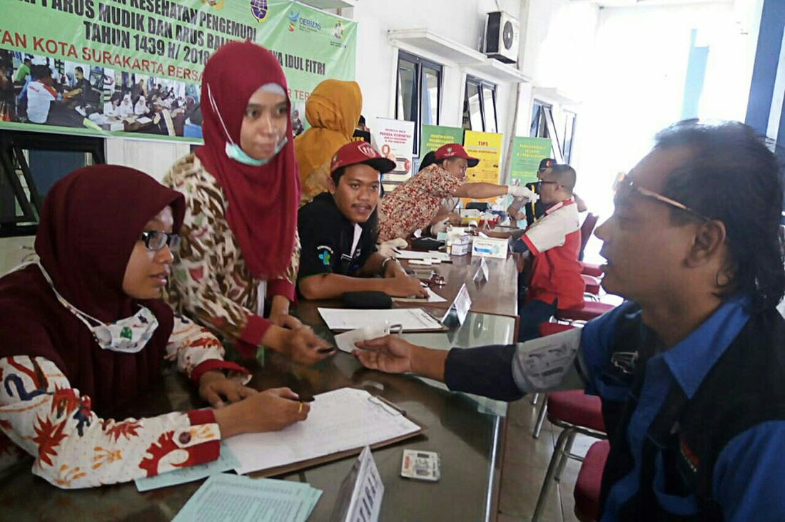 Dozens of bus drivers have health check up ahead of Idul Fitri exodus