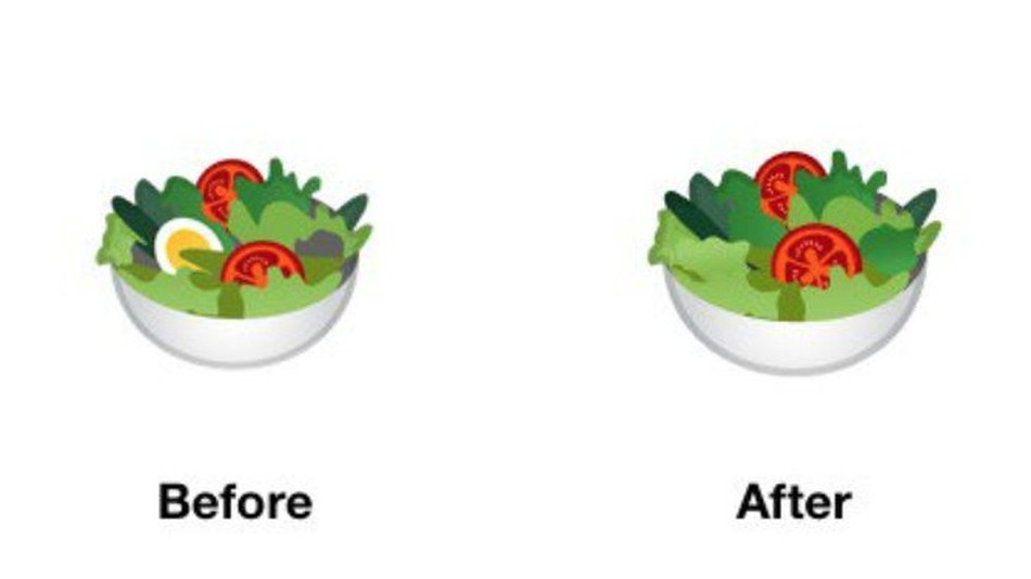 Google's emoji update includes vegan salad