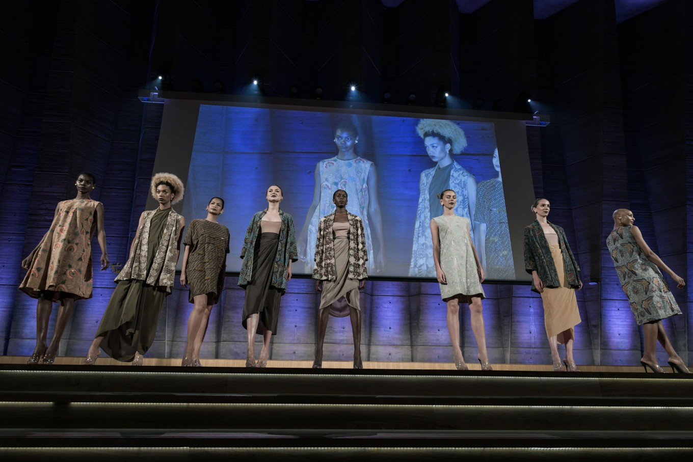 Oscar Lawalata displayed ready-to-wear pieces featuring batik motif from across Java.