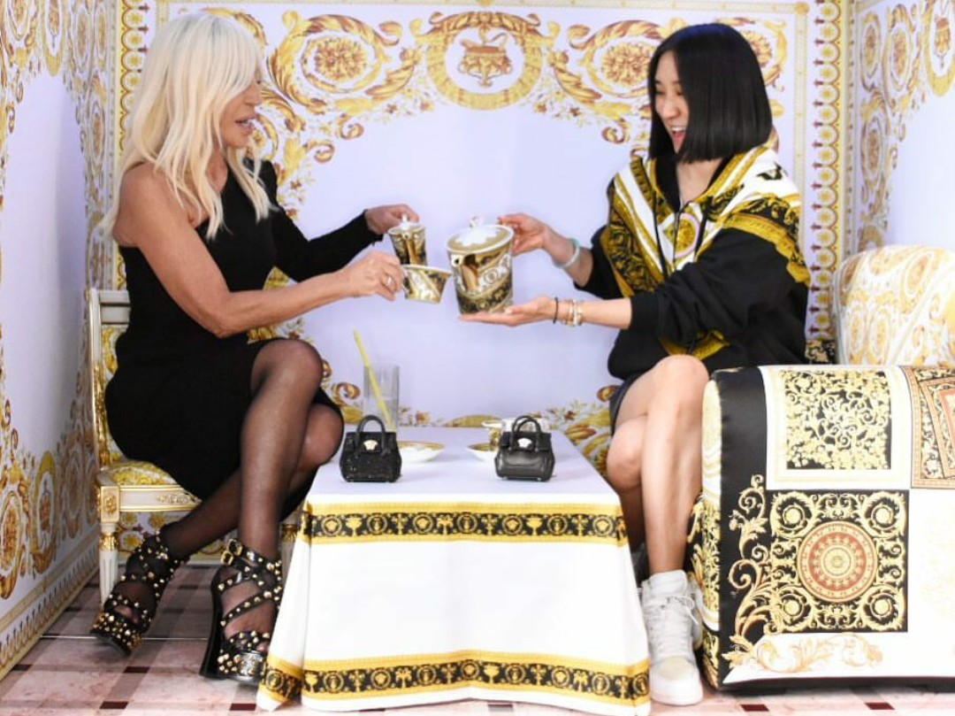 Versace designs a mini room for Instagram HQ