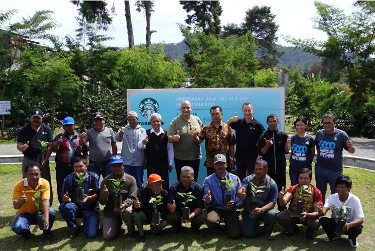 Starbucks Indonesia donated 150,000 coffee tree seeds to Sumatran farmers.