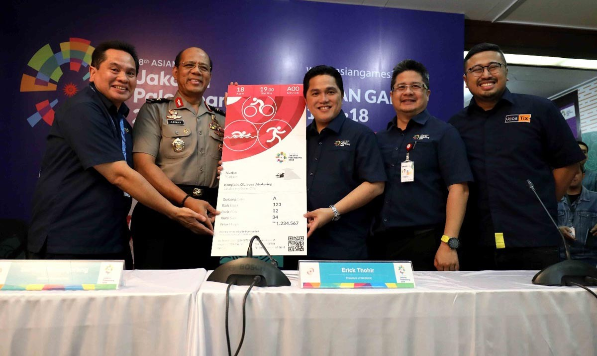Asian Games tickets up for grabs starting end of month