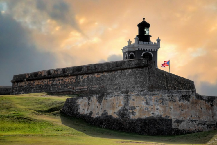 Fortification: The San Felipe del Morro castle, a UN World Heritage site since 1983, is seen in San Juan, Puerto Rico.