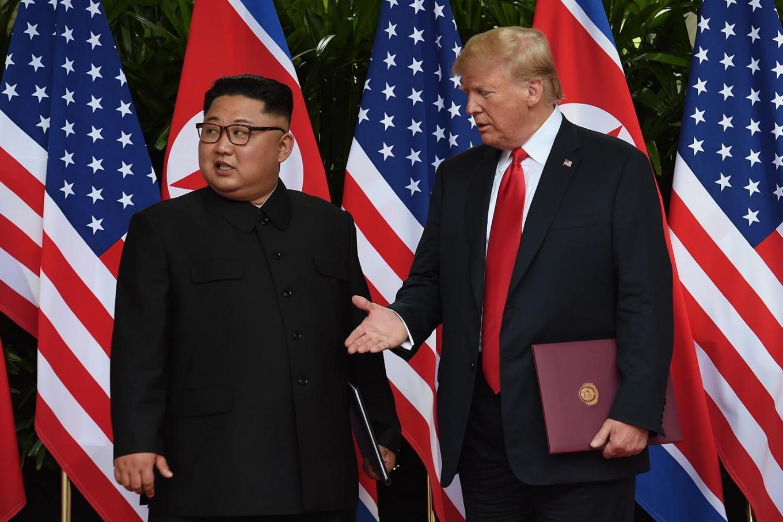 Trump says N. Korea talks 'going well,' lashes critics