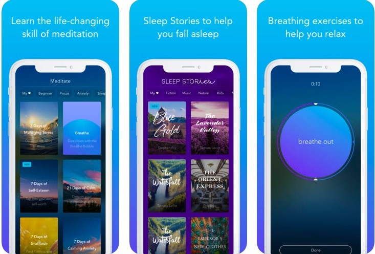Calm is the perfect meditation app for beginners, but also includes hundreds of programs for intermediate and advanced users.