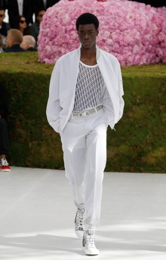 83087c0920 A model presents a creation for Dior, during the Men's Spring/Summer 2019  fashion