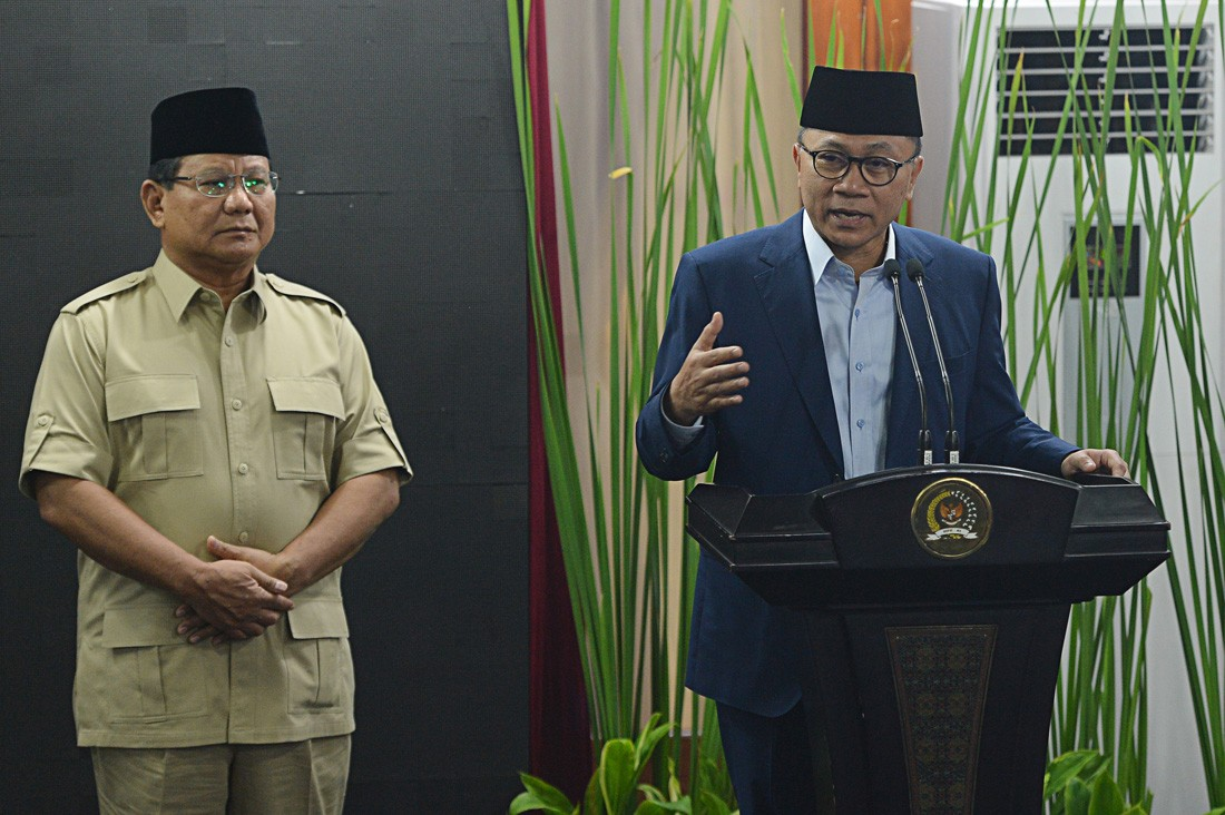 Prabowo, Zulkifli discuss possible coalition for 2019 presidential election