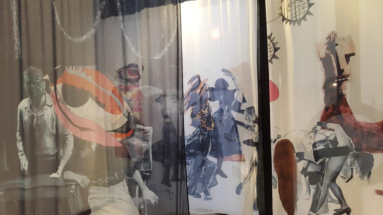 A closer view of Sally Smart's 'P.A.R.A.D.E.', showing at BIASA in Kerobokan.