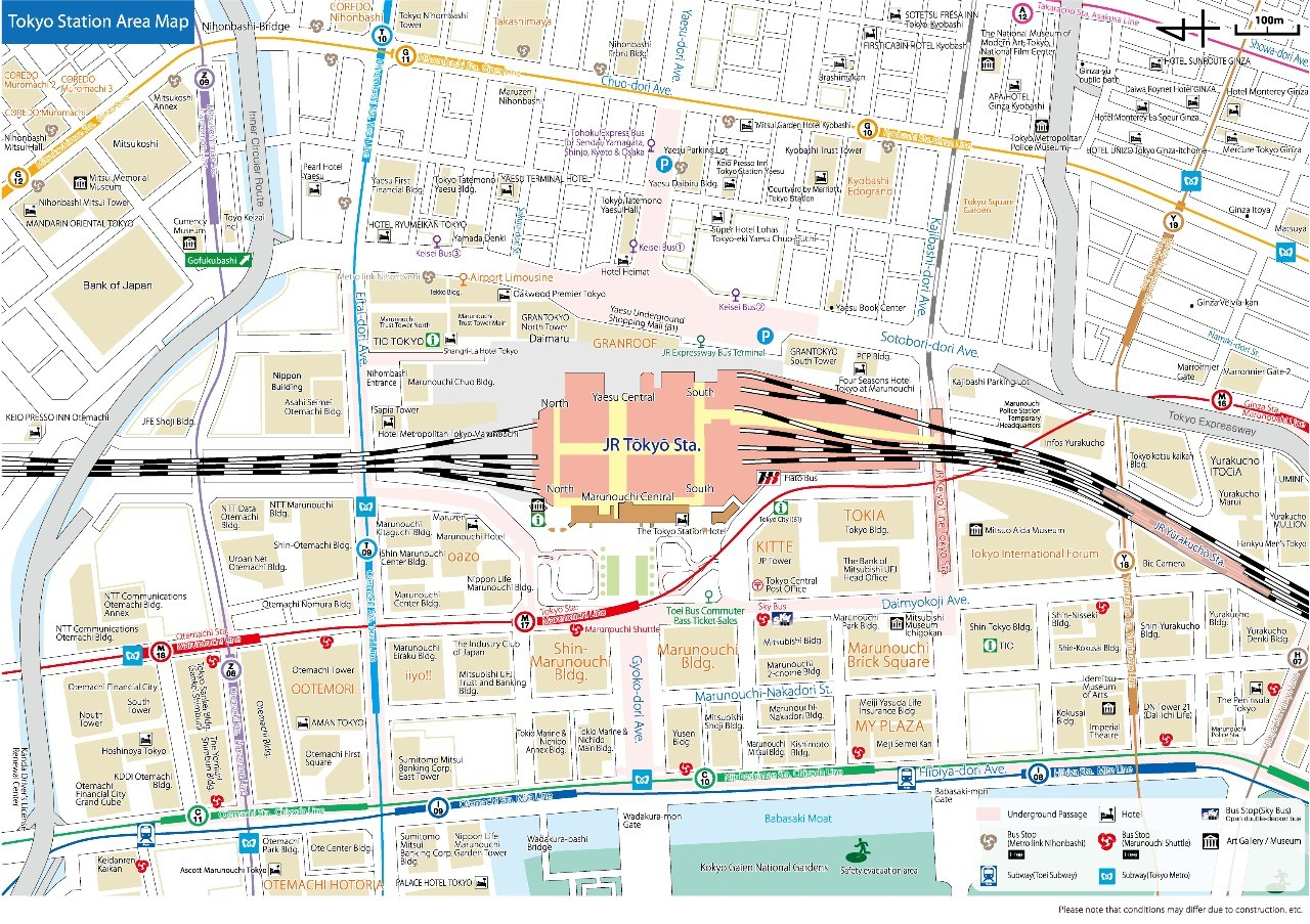 Tokyo station maps to be standardized