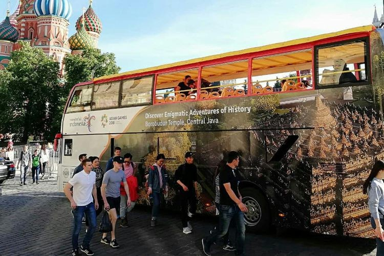 Russian buses promote Wonderful Indonesia during World Cup