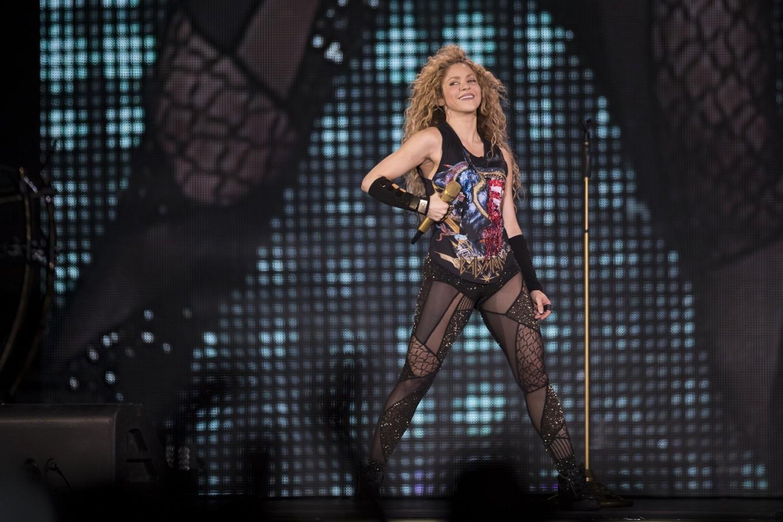 Shakira world tour promoters pull 'inadvertent' Nazi symbol