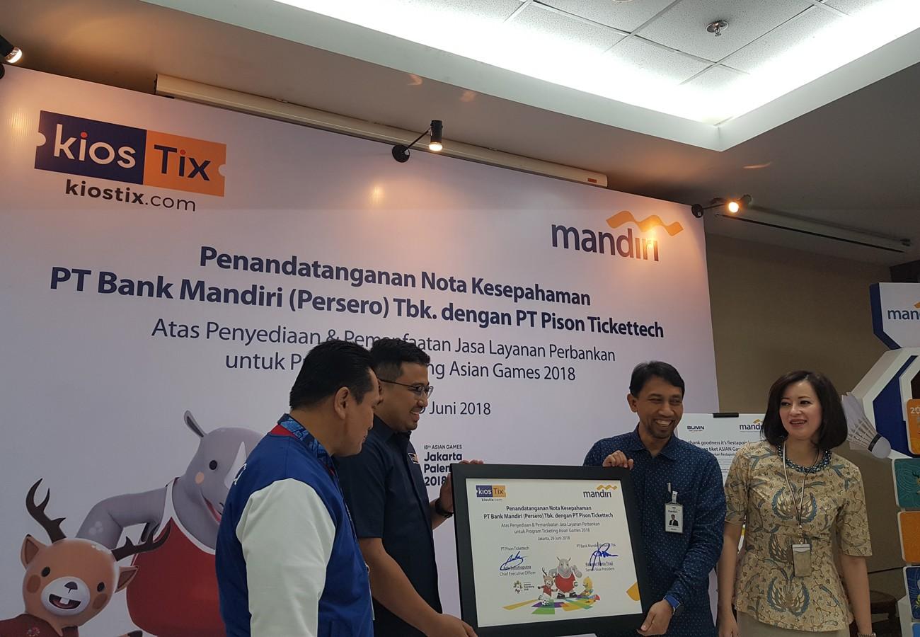 Bank Mandiri, KiosTix team up to sell Asian Games tickets