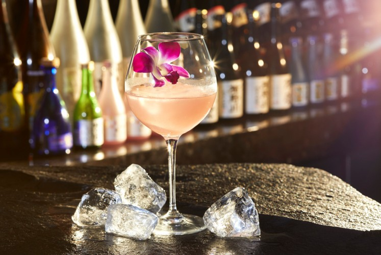 One of Henshin's signature drink; Sakura Maru.