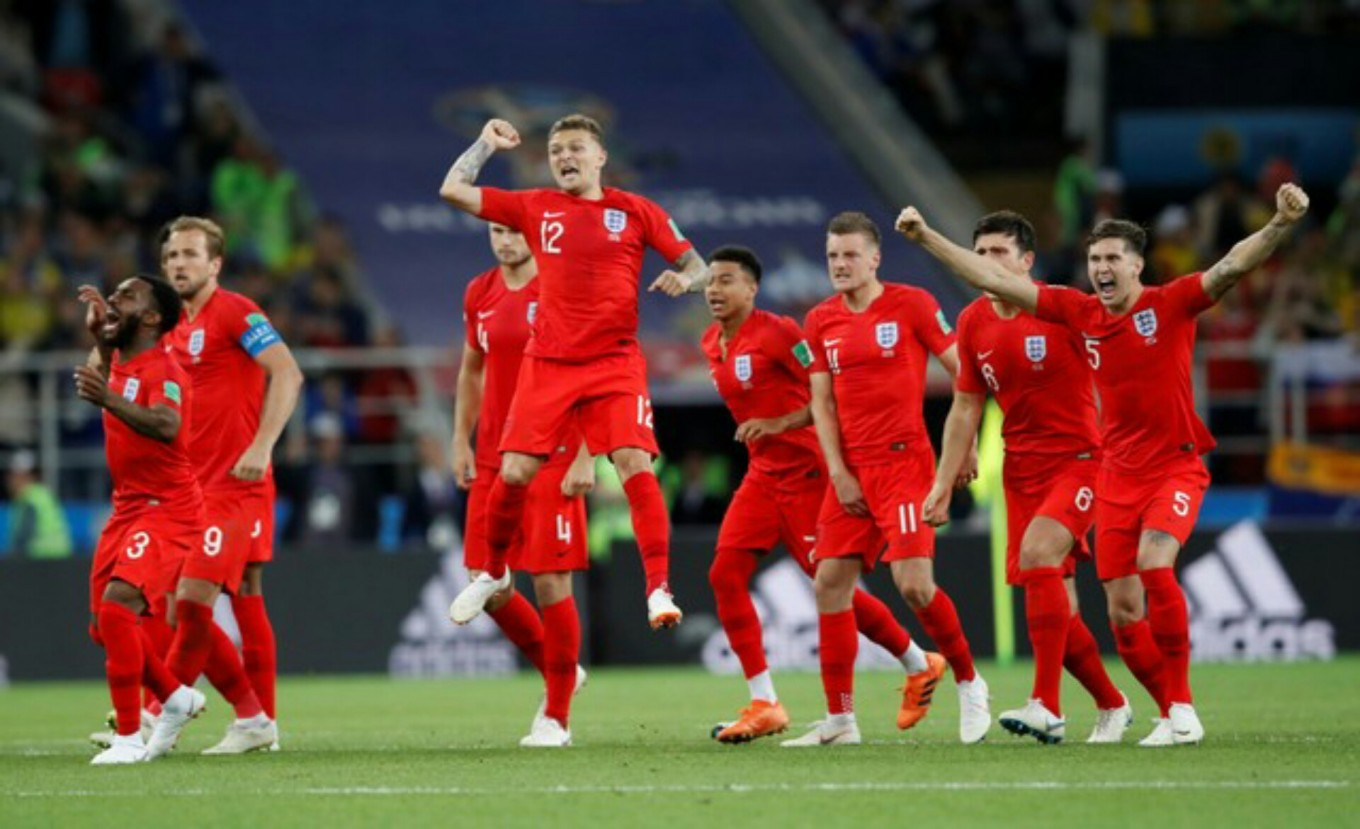 England beats Colombia on penalties to reach quarterfinals