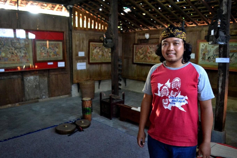 Indra Setiawan is the man behind Wayang Beber Sekartaji Museum.
