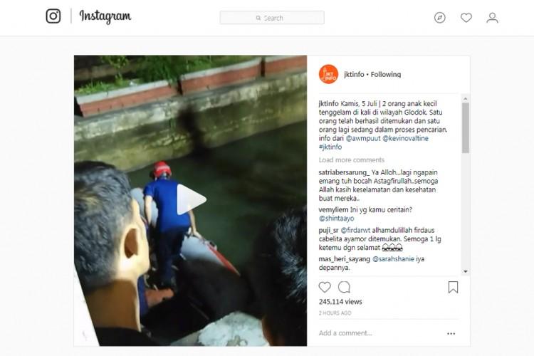 Three children drown in West Jakarta river, one still missing