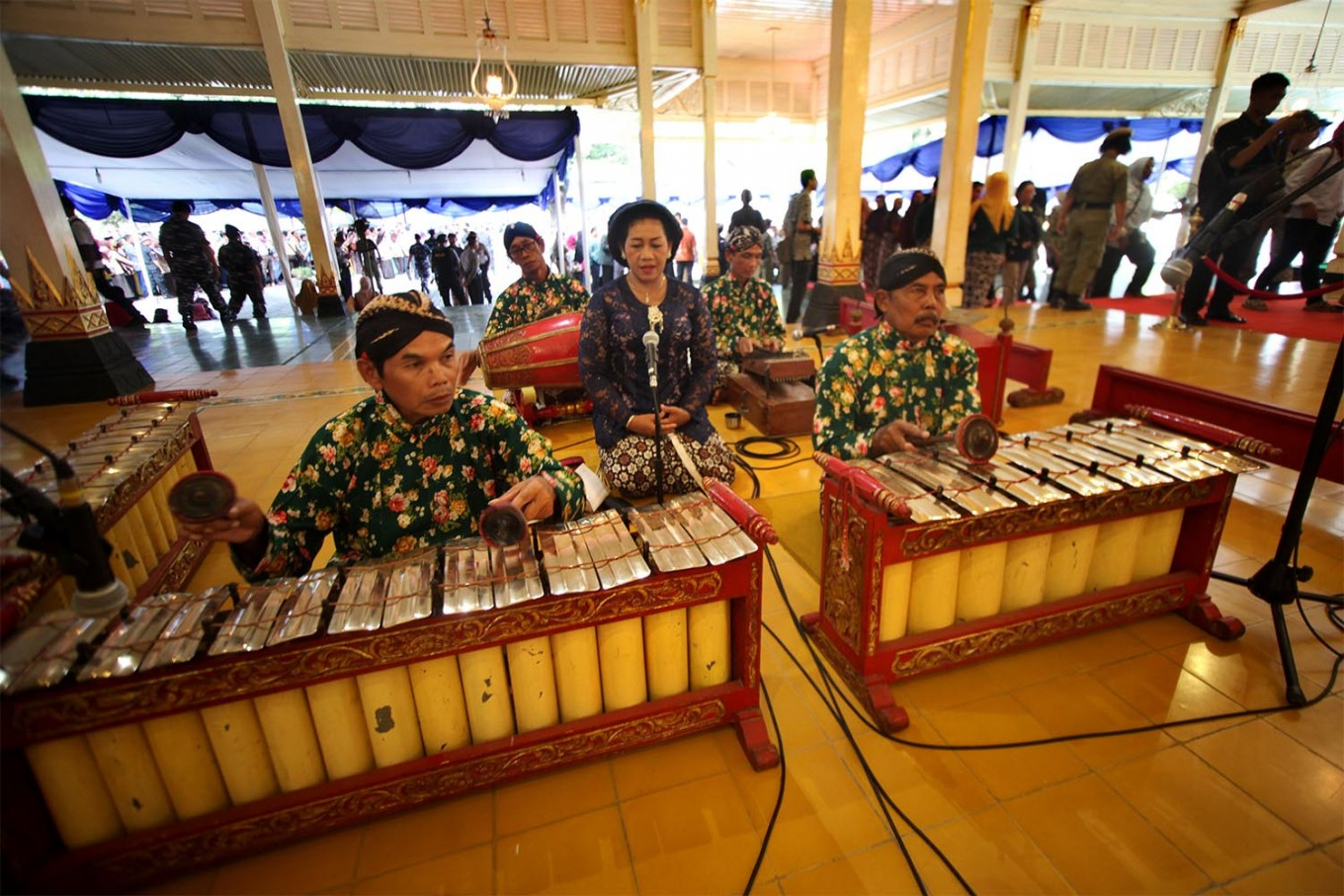 Gamelan is played during the open house. JP/Boy T. Harjanto