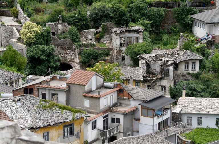 Steeped in history but crumbling, Albania's 'slanted city'