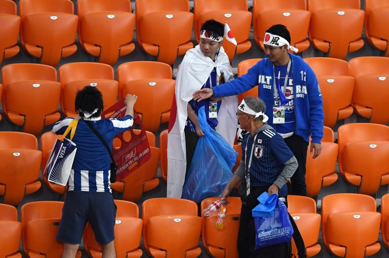 Habit of cleaning at World Cup a chance to spread Japanese culture