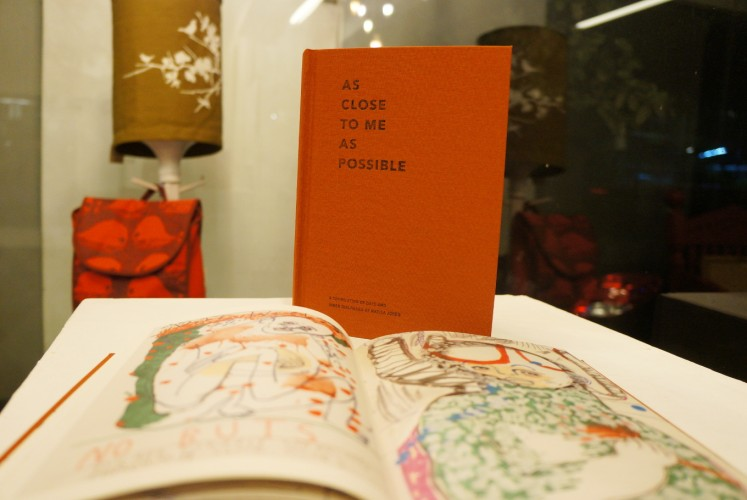 The 'As Close to Me as Possible' book. The special edition, which is limited to 100 copies, consists of artwork that is hand-drawn by Jones.