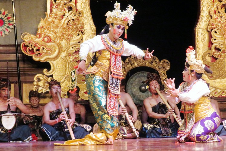 Exquisite: The Kakul Mas troupe performs the exquisite gambuh dance drama.