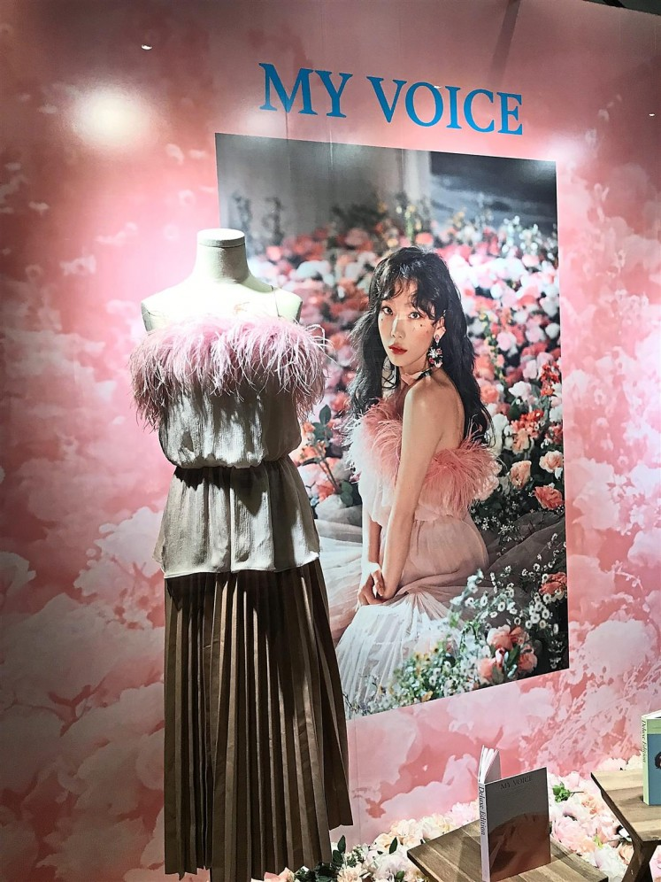 The dress that Girls' Generation's Taeyeon wore for her 'Make Me Love You' music video is on display.