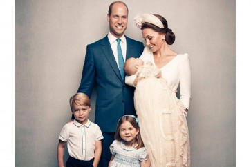 British royal family releases official photos of Prince Louis' christening