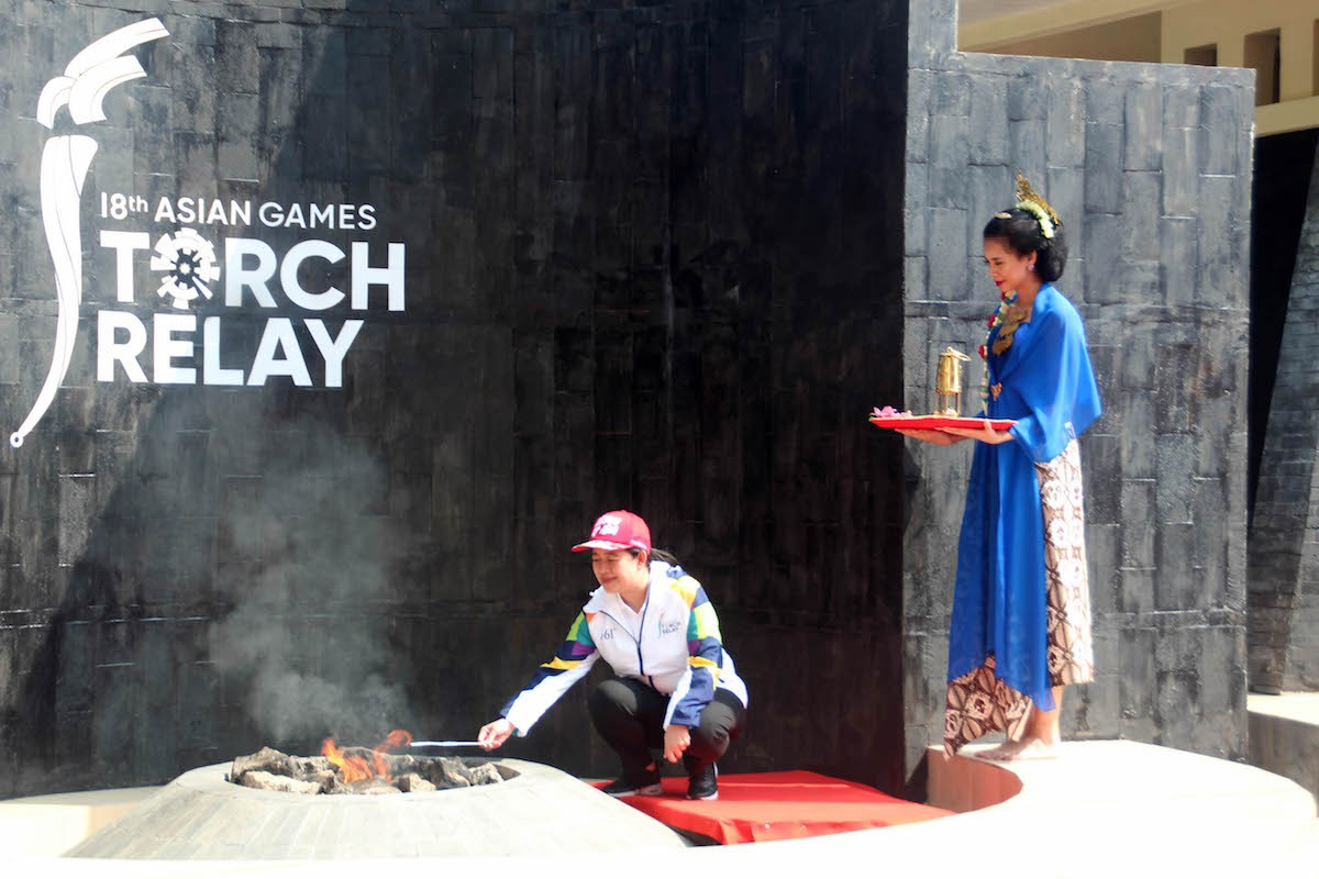 Asian Games flame to join Mrapen flame and begin journey across Indonesia