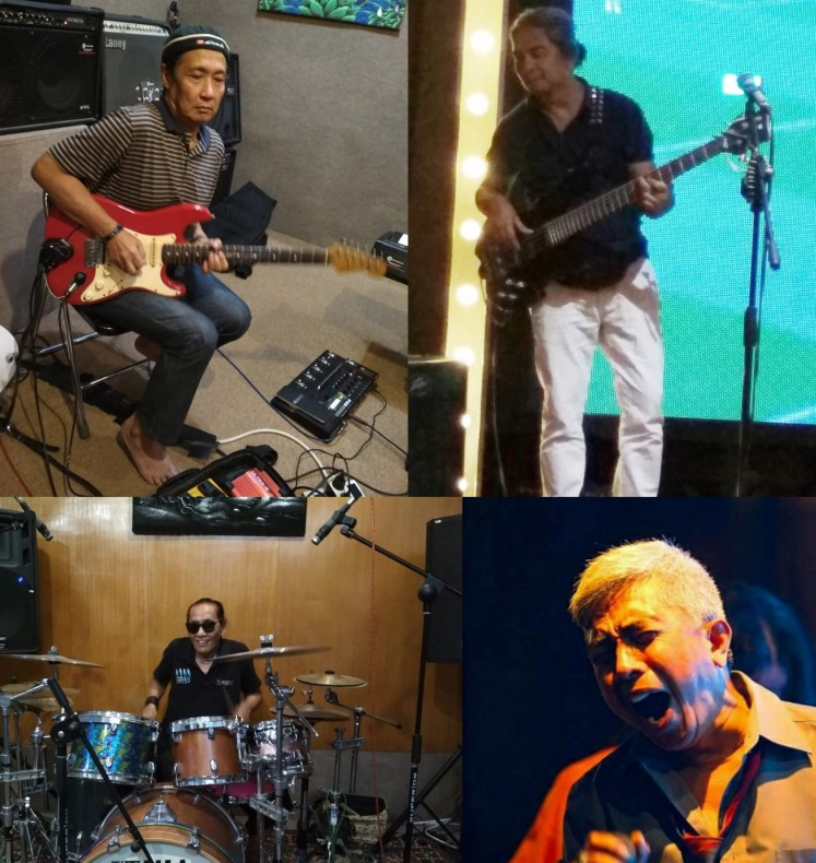 Elpamas reunited for a concert over the weekend in Malang, East Java, bringing together members Didik Sucahyo, Dullahgowi, Tony and Didik Kompol.
