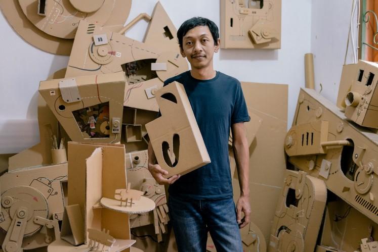 Gatot Indrajati in his studio in Yogyakarta, Central Java