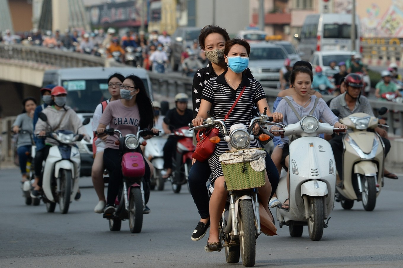 Bikes out, trees in: Hanoi tackles air pollution woes
