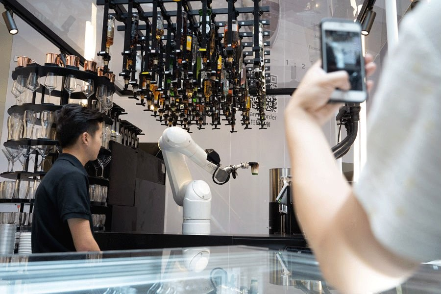 Robot drinks stir man vs machine debate