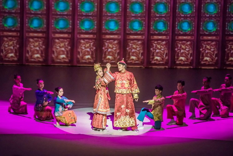 Eternal love: The Peranakan marriage scene also includes audience participation.