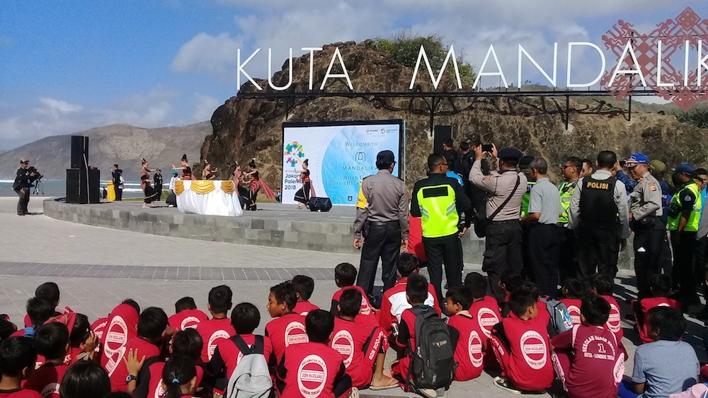 Asian Games torch arrives in Lombok, promotes Mandalika economic zone