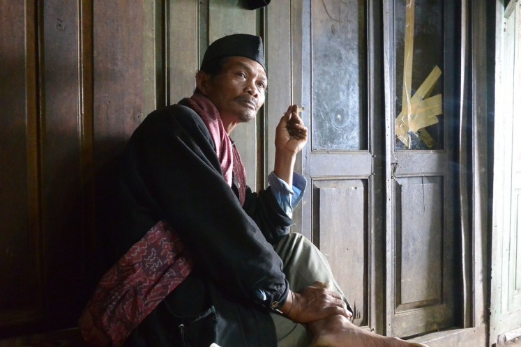 Markodi, a community elder in Butuh village, Kaliangkrik believes smoking is not harmful and instead heals, as his ancestors taught him.