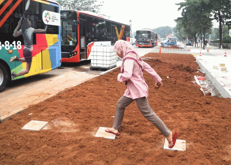 'Black River' net, Jl. Sudirman grass strip waste of money: Councilor