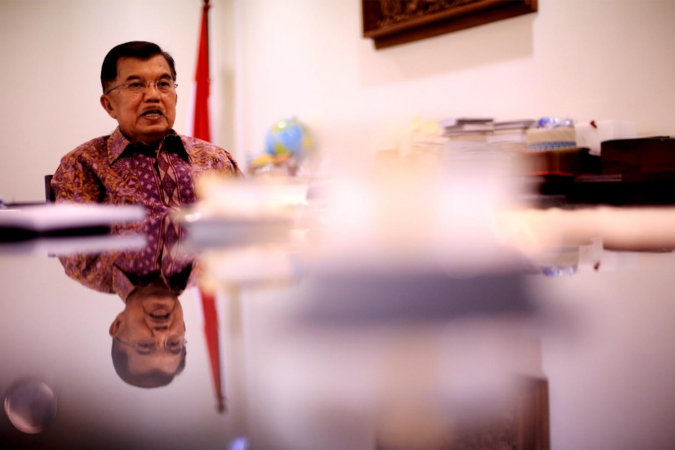 VP calls on Prabowo, Sandiaga to calm protestors down