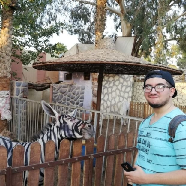A zoo in Egypt got called out after a donkey painted to look like a zebra had been discovered by a visitor.
