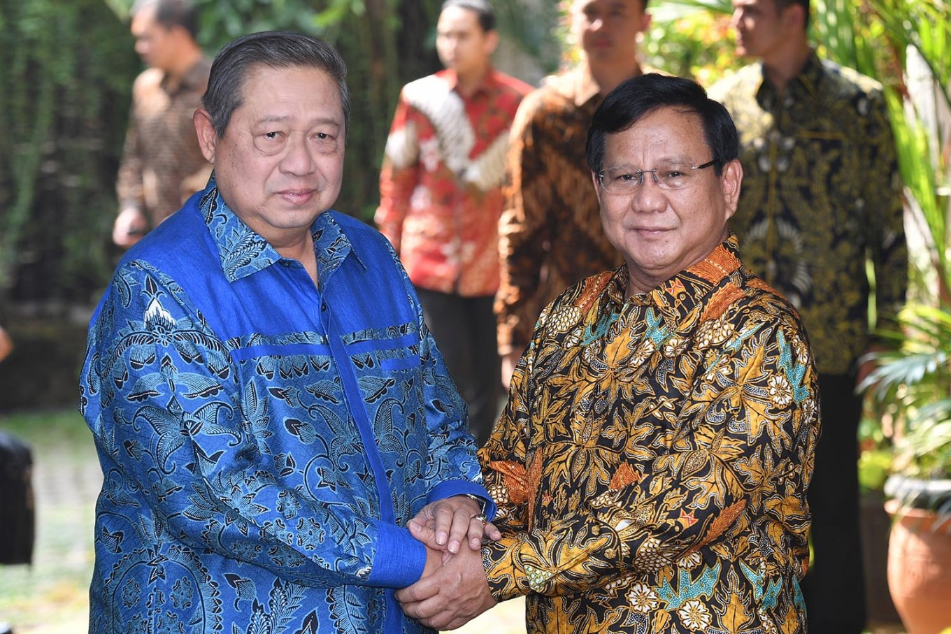 Prabowo-SBY meeting solidifies Gerindra-Dems coalition
