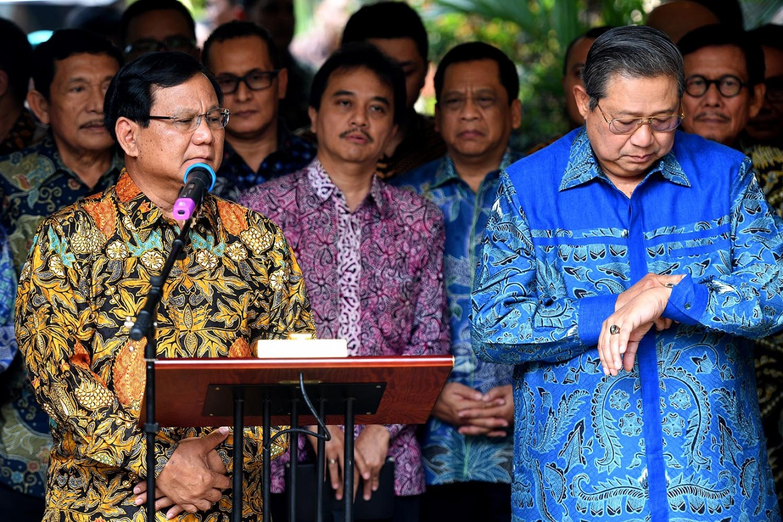 Democrats champion SBY's achievements, not Prabowo's