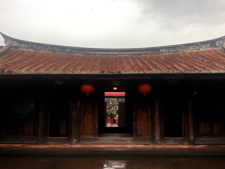 The entrance to the main hall of the Lin An Tai House and Historical Museum.