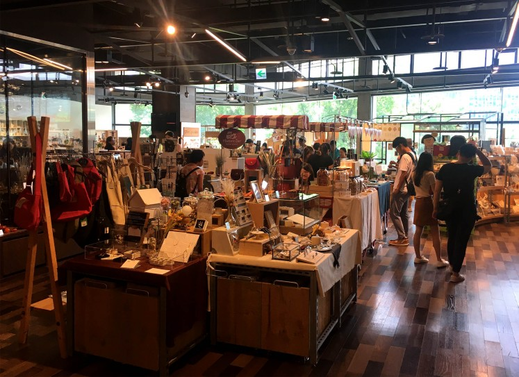 Sellers at Songshan Cultural and Creative Park.